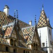 Colorful beaune hospice famous roof — Stock Photo #55925501