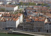 Aerial lyon — Stock Photo