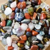 Colorful semi precious stones or gems — Stock Photo