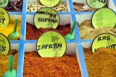 Spices at market — Stock Photo