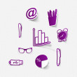Business icons — Stock Vector #53183227