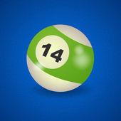 American billiard ball number 14 — Stock Vector