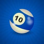 американский бильярдный шар номер 10 — Cтоковый вектор