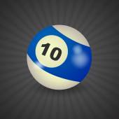 American billiard ball number 10 — Stock Vector