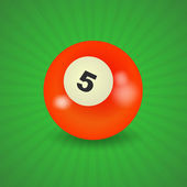 американский бильярдный шар номер 5 — Cтоковый вектор