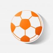 Papier geknipte sticker: voetbal — Stockvector