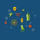 Establecer el icono del diseño moderno para la fiesta de halloween — Vector de stock