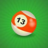 American billiard ball number 13 — Stock Vector