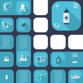 Modern tasarım i̇slam icons set — Stok Vektör