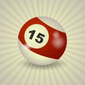 American billiard ball number 15 — Stock Vector