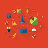Set modern design office icons — Stock Vector