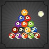 Set of billiard balls — Stock Vector