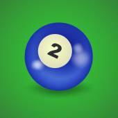 American billiard ball number 2 — Stock Vector