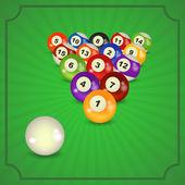 Pirámide de bolas de billar — Vector de stock