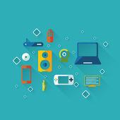Computer icons app set, — Stock Vector