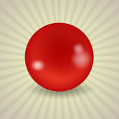 American red billiard ball — Stock Vector