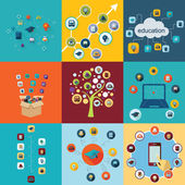 Icons for education web design — Stock Vector