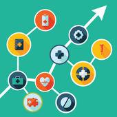 Icons for web design medicine — Stockvektor