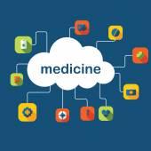 символы для медицины веб-дизайна — Cтоковый вектор