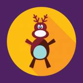Shadow Christmas moose — Vector de stock