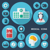 Shadow medical icons — Stock Vector