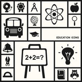 Shadow education icons — Stock Vector