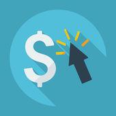 Flat icon: dollar — Stock Vector