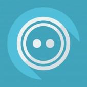 Flat icon: stud — Stock Vector