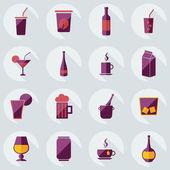 Flat modern design with shadow icons beverage — Stok Vektör