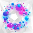 Triangles and spheres background — Stock Vector #70784993