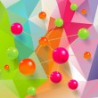 Spheres on Triangles background — Stock Vector #70788353
