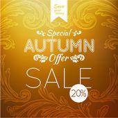 Autumn sale retro poster — Stock Vector
