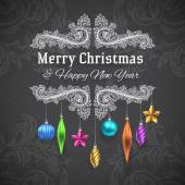 圣诞装饰框架 — 图库矢量图片
