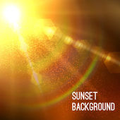 Sun burst with flare — Stock Vector