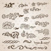 Barokní rytina květinový design — Stock vektor