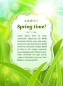 Label on a spring background — Stock Vector