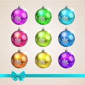 Boules de jouet de Noël — Vecteur