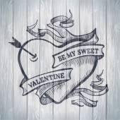 발렌타인 카드 개념 — Stockvector