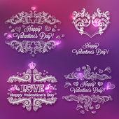 Valentine's day design elements — Stock Vector