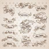 Vintage şerit afiş — Stok Vektör