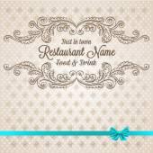 Retro restaurant menu ontwerp — Stockvector