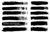Black ink brush strokes — Vetor de Stock