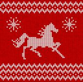 Sweater pattern with horse — Wektor stockowy