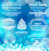 Рождества декоративные рамки — Cтоковый вектор