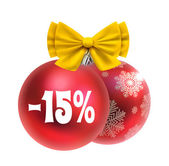 Christmas and New year discount — ストックベクタ