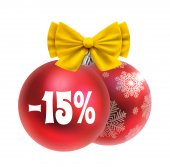 Christmas and New year discount — Cтоковый вектор