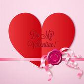 Valentine's day letter — Stock Vector