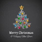 Christmas tree on a chalkboard — Stock Vector