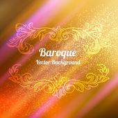 Herbst Hintergrund mit barocken Elementen — Stockvektor