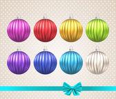 Christmas toy balls — Stock Vector